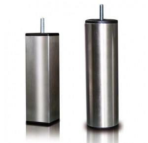 4 pieds inox cylindrique ou cubique