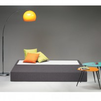 Lit d'Appoint Meridienne Gris Anthracite